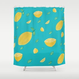 Mellow lemon yellow Shower Curtain