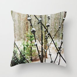 Snow Berry Throw Pillow