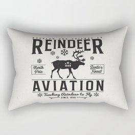 Reindeer Aviation - Christmas Rectangular Pillow