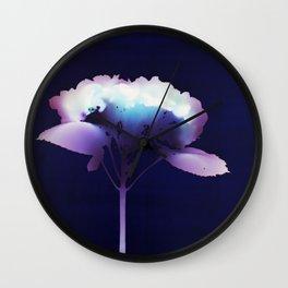 Photogram - Hydrangea II Wall Clock