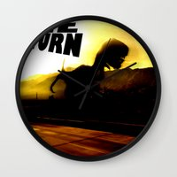 return Wall Clocks featuring THE RETURN by Design Gregory
