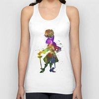 captain hook Tank Tops featuring Captain Hook in watercolor by Paulrommer