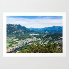 Squamish, BC. Art Print