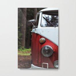 Red and White Vans Metal Print