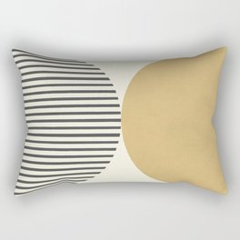 Semicircle Stripes - Gold Rectangular Pillow