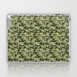 Military Camouflage Pattern - Green White Black Laptop & iPad Skin