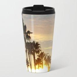 Palm tree sunset Travel Mug