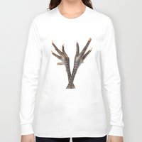 feet Long Sleeve T-shirts featuring Chicken feet by Elisabeth Coelfen