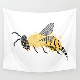 Abstract Bee Wall Tapestry