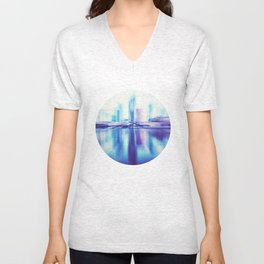 Heading Downtown Unisex V-Neck