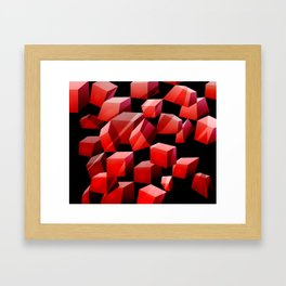 Red Cubes Framed Art Print