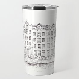 View of Amsterdam canal Travel Mug