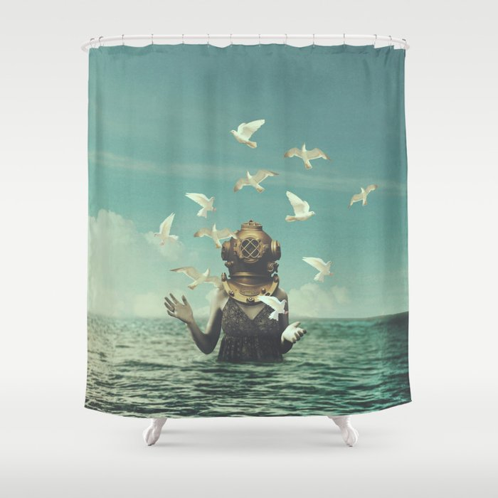 Aquatic Radioactive Shower Curtain