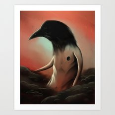 The crow in the cloud Art Print