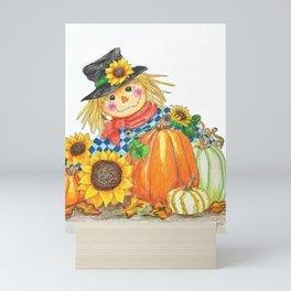 Sunflower Scarecrow Mini Art Print