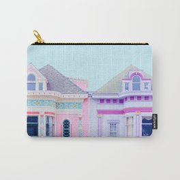 Pastel Victorian Houses - Travel Photography, San Francisco Carry-All Pouch