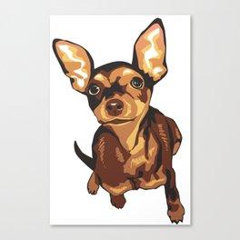Billie the Miniature Pincher Puppy Canvas Print