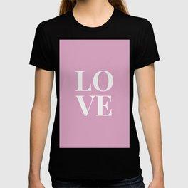 LOVE - pink T-shirt