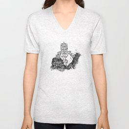 robot showbot Unisex V-Neck