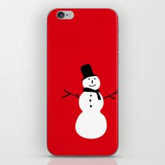 Christmas Snowman-Red iPhone & iPod Skin