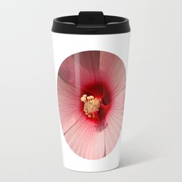 Pink Hibiscus Close-up Flower Photography Travel Mug