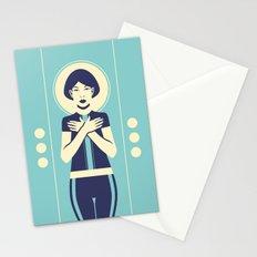 Evangeline Blue Stationery Cards
