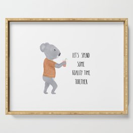 Valentine koala Serving Tray