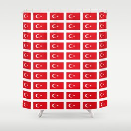flag of turkey -turkey,Turkish,Türkiye,Turks,Kurds,ottoman,istanbul,constantinople. Shower Curtain