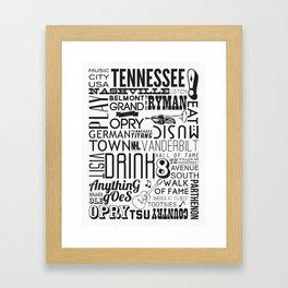 Nashville, Tennessee Framed Art Print