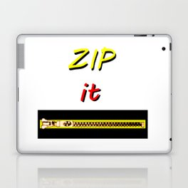 Zip it Black Yellow Red jGibney The MUSEUM Gifts Laptop & iPad Skin