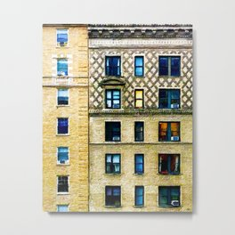New York City Apartment Building Metal Print