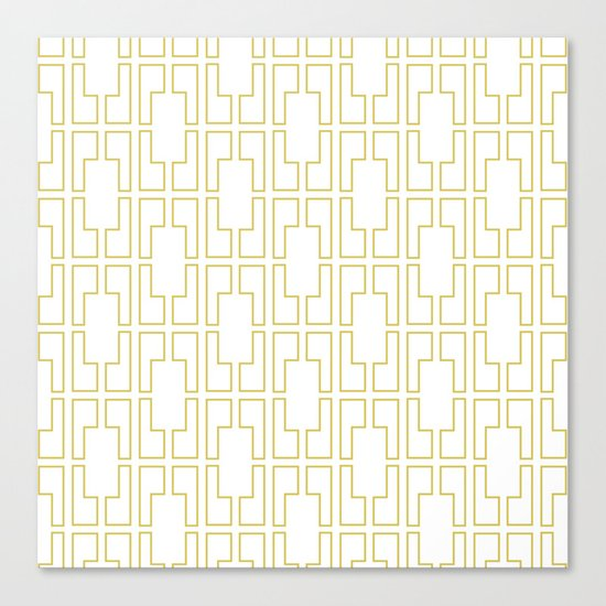 Simply Mid-Century in Mod Yellow Canvas Print