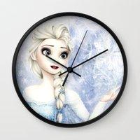 elsa Wall Clocks featuring Elsa by Siney