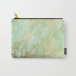 Marble effect blue and gold Carry-All Pouch
