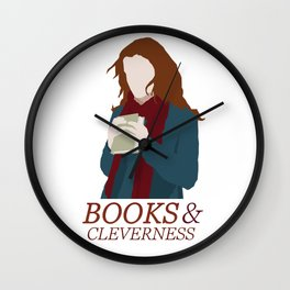 Books & Cleverness Wall Clock