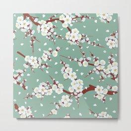 Cherry flowers Metal Print