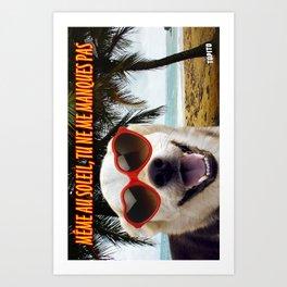 Carte Postale - Même au soleil tu ne me manques pas Art Print