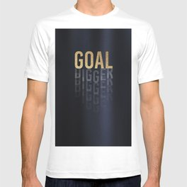 Goal Digger - Gold on Black T-shirt