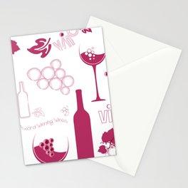 Wine Background Pattern - 05 Stationery Cards