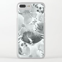 Watercolour background with variety of flowers V Clear iPhone Case