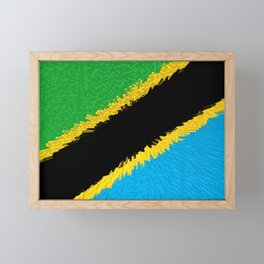 Extruded flag of Tanzania Framed Mini Art Print