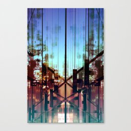 Flipped On - Abstract Geometry Photo Canvas Print