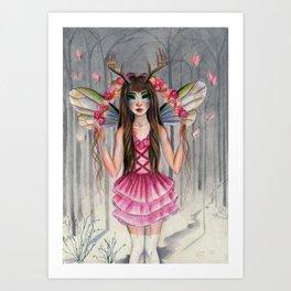 A Deer Little Faerie Art Print