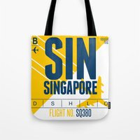 singapore Tote Bags featuring Singapore Tag by Studio Tesouro