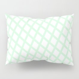 Lattice   Mint Pillow Sham