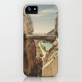 """""""The most dangerous trail in the world"""". El Caminito del Rey iPhone Case"""