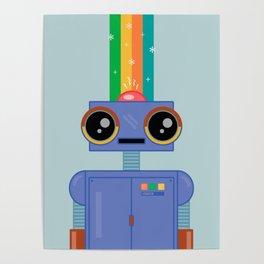 Rainbow Robot Poster