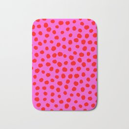 Keep me Wild Animal Print - Pink with Red Spots Bath Mat