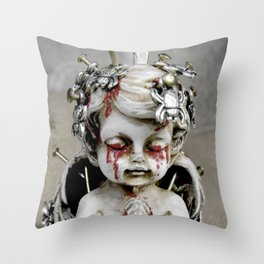 Massacred Angel: mixing Heaven with Hell. Throw Pillow