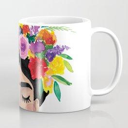 Floral Frida - Black & White Coffee Mug